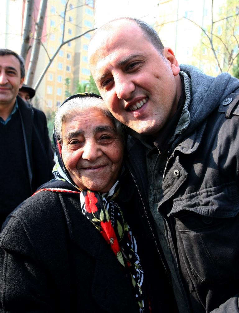 Fadime Ana Ahmet'le (Fotoğraf: Özcan Yaman)