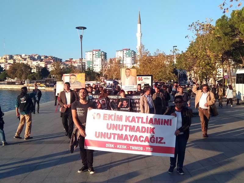 10 Ekim Katliamı'nda yitirilenler Çanakkale'de anıldı (Foto: Damla Yeltekin)