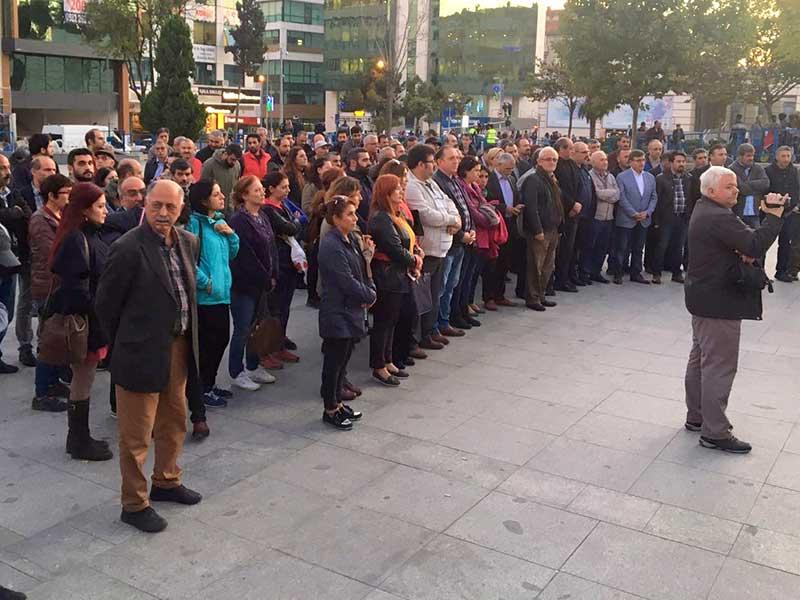 10 Ekim Ankara Katliamı'nda yitirilenler Gebze'de anıldı (Foto: EVRENSEL)