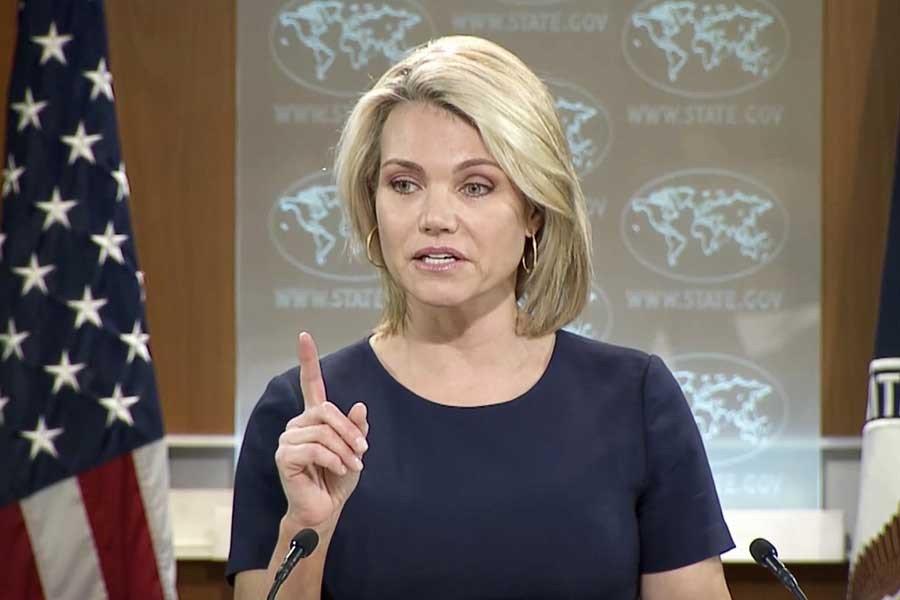 ABD Dışişleri BakanlığıSözcüsü Heather Nauert