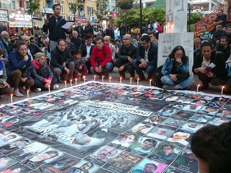 10 Ekim Katliamı'nda yitirilenler Kocaeli'de anıldı