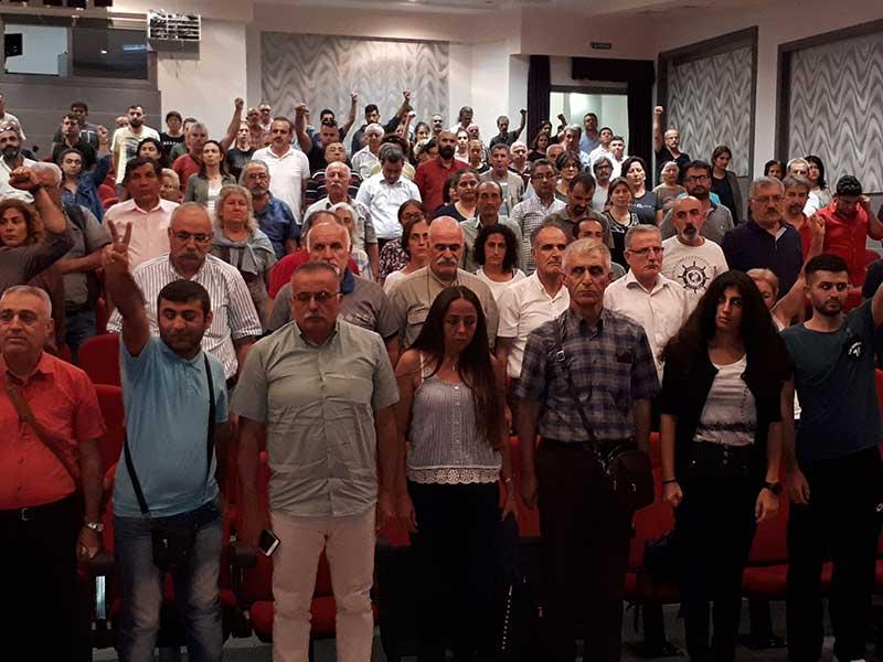 10 Ekim Ankara Katliamı'nda yaşamını yitirenler Mersin'de anıldı (Fotoğraf: EVRENSEL)