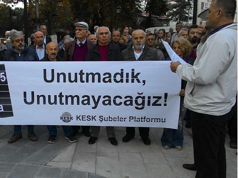 10 Ekim Ankara Katliamı Sinop'ta yapılan açıklamayla lanetlendi (Fotoğraf: EVRENSEL)