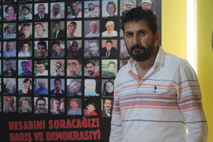 Tonguç Özkan, 10 Ekim Ankara Katliamı'nda en çok üyesini kaybeden ve yara alan sendikalardan BTS'nin Adana Şube Başkanı