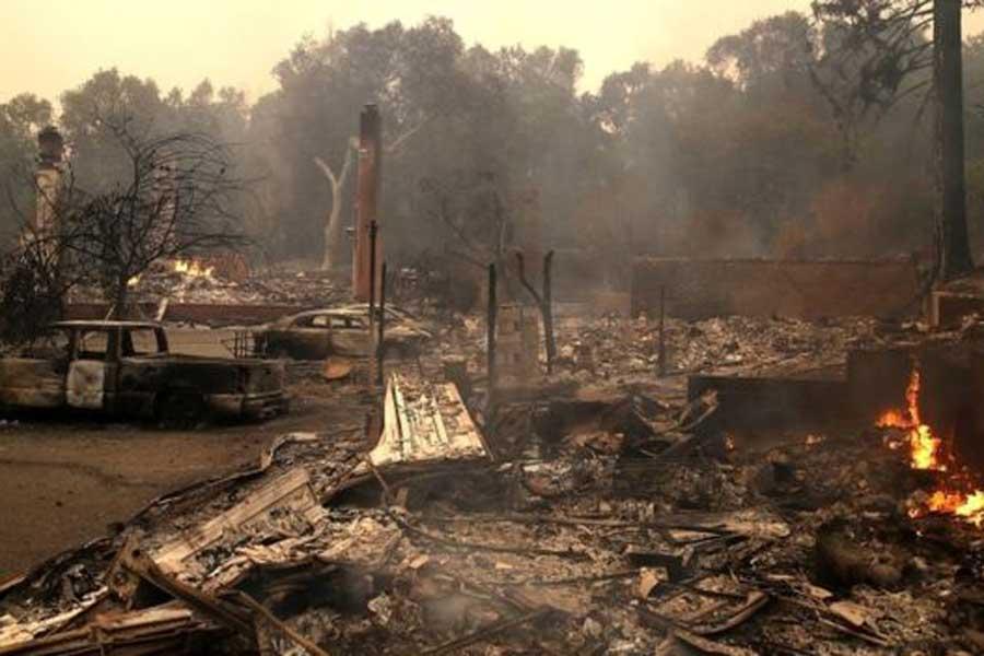 Gece boyunca çıkan orman yangınlarında yüzlerce ev yok oldu