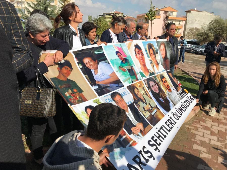 10 Ekim Katliamı'nda yaşamını yitirenler Malatya'da anıldı. Fotoğraf: Evrensel