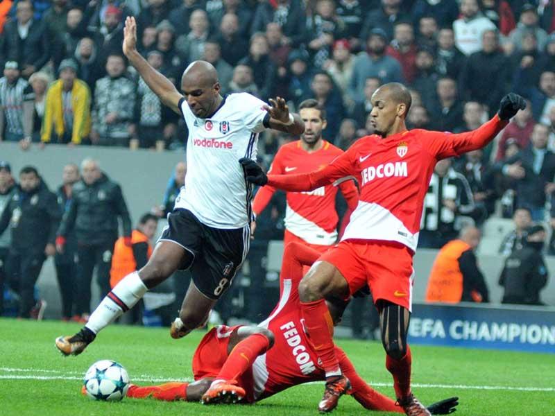 Beşiktaş, UEFA Şampiyonlar Ligi 4. maçında Monaco ile 1-1 berabere kaldı (Fotoğraf: DHA)
