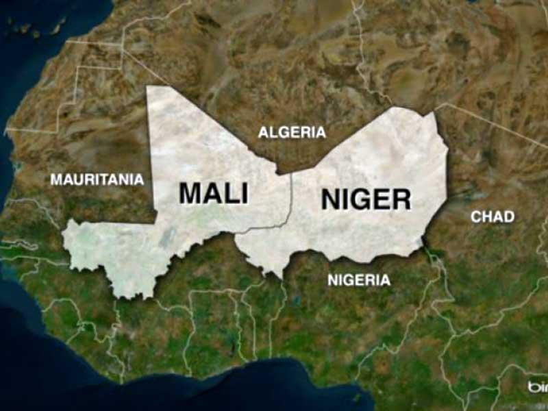 Afrika Mali Nijer Harita