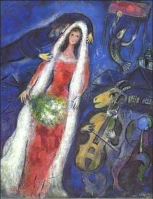 Marc Chagall - La Mariée