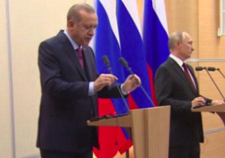 Erdoğan ve Putin'in ortak basın toplantısı