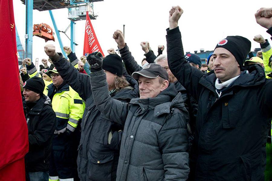 isveç liman işçileri