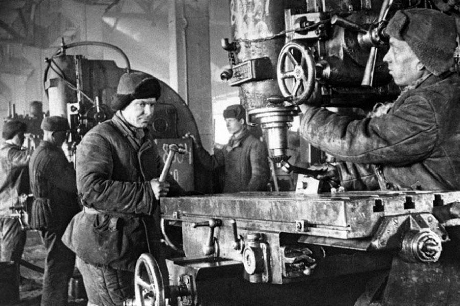sovyetler birliği'nden işçi portresi