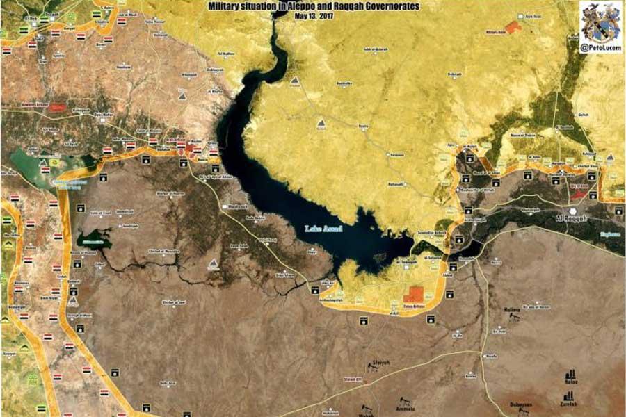 Doğu Halep ve Batı Rakka haritası: Peto Lucem (Twitter)