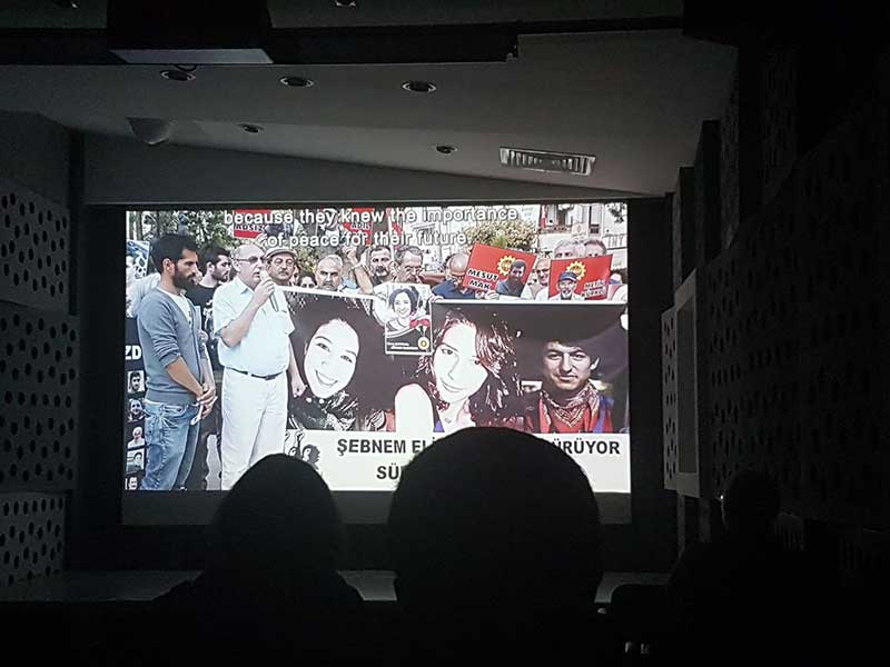 10 Ekim Ankara Katliamında yaşamını yitiren Elif Kanlıoğlu'yu anlatan 'Elif' adlı belgeselin gösterimi yapıldı (Fotoğraf: EVRENSEL)