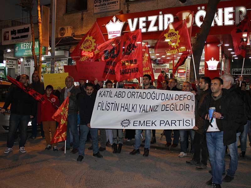 Esenyurt'ta EMEP'in çağrısı ile Filistin'e destek eylemi yapıldı (Fotoğraf: EVRENSEL)