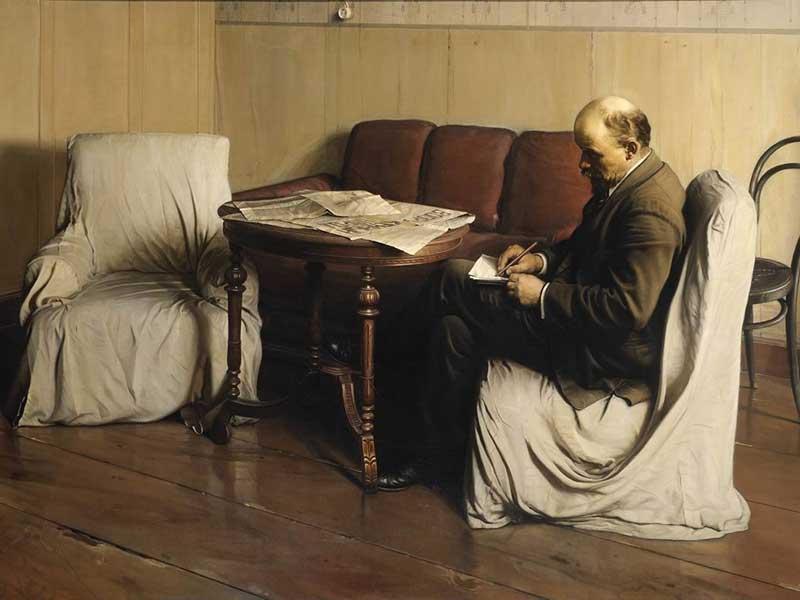 Isaak Brodsky - Lenin Smolny'de (1930)