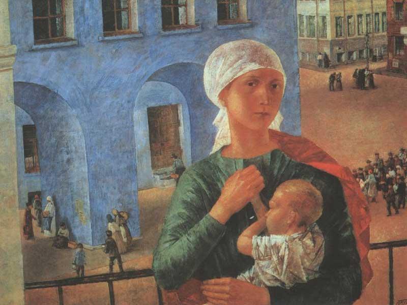 K. Petrov-Vodkin - Petrograd Madonna