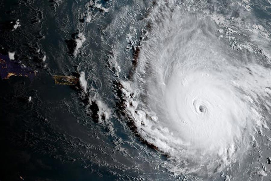 Irma Kasırgası'nın GOES-16 uydusundan çekilen fotoğrafı