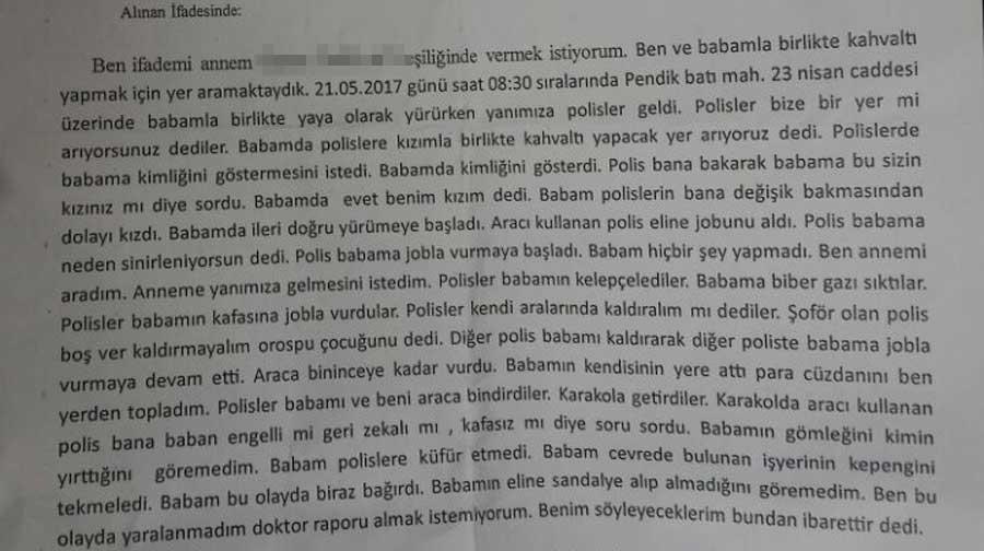 Sedat Tarlacı'nın kızının ifadesi