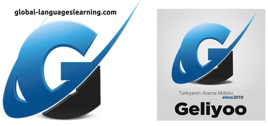 (Soldaki logo global-languageslearning.com'a, sağdaki ise geliyoo.com'a ait)