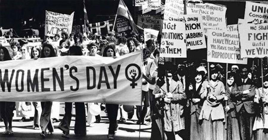 Uluslararası Emekçi Kadınlar Günü kutlamalarından