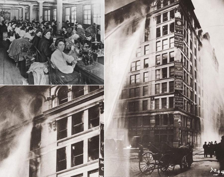 25 Mart 1911, New York, Triangle Gömlek Fabrikası Yangını