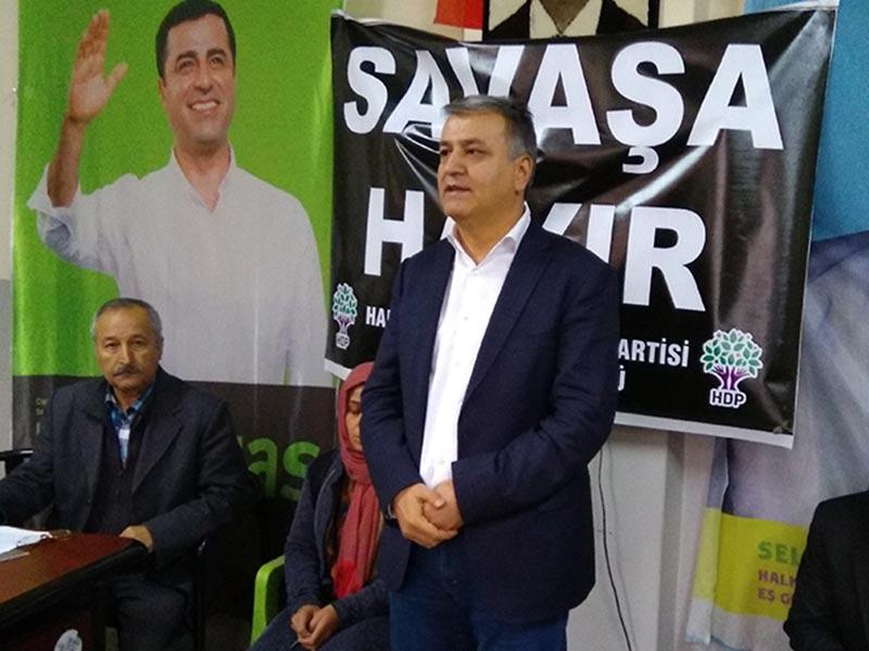HDP Antep Milletvekili Mahmut Toğrul: Barış için direneceğiz (Fotoğraf: EVRENSEL)
