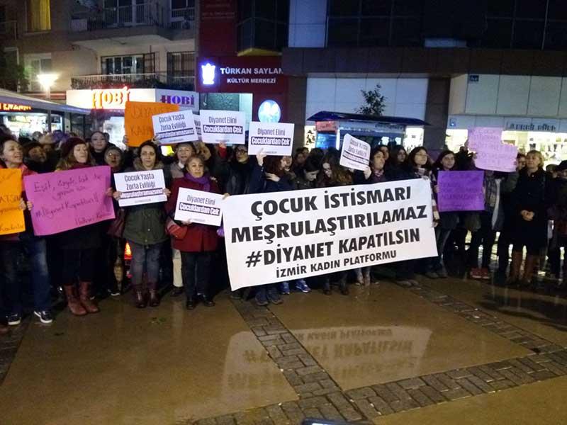 İzmir KadınPlatformu, Diyanet'in açıklamasına tepki gösterdi