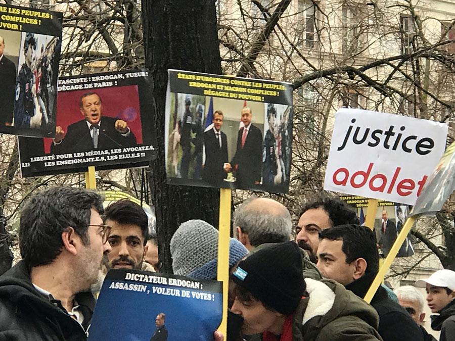 Fransa Erdoğan protestosu