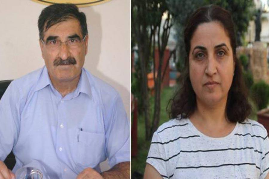 İHD Mersin Şube Başkanı Ali Tanrıverdi ve Gazeteci Fatma Ölmez