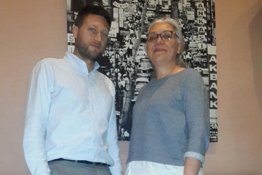 Uluslararası Af Örgütü Türkiye Araştırmacısı Andrew Gardner ve Uluslararası Af Örgütü Türkiye Direktörü İdil Eser