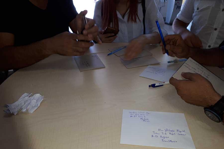 Mersin'de gazeteciler Alayumat'a mektup gönderdi