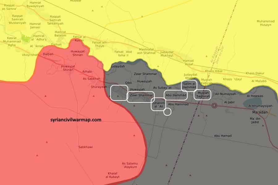 IŞİD'in ele geçirdiği köyler