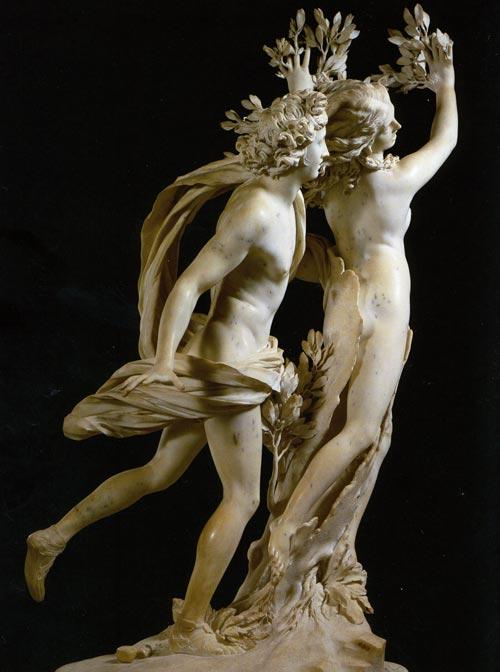 Gian Lorenzo Bernini tarafından yapılmış olan Apollo and Daphne (1622-25) heykeli, Daphne, defne ağacına dönüşürken…