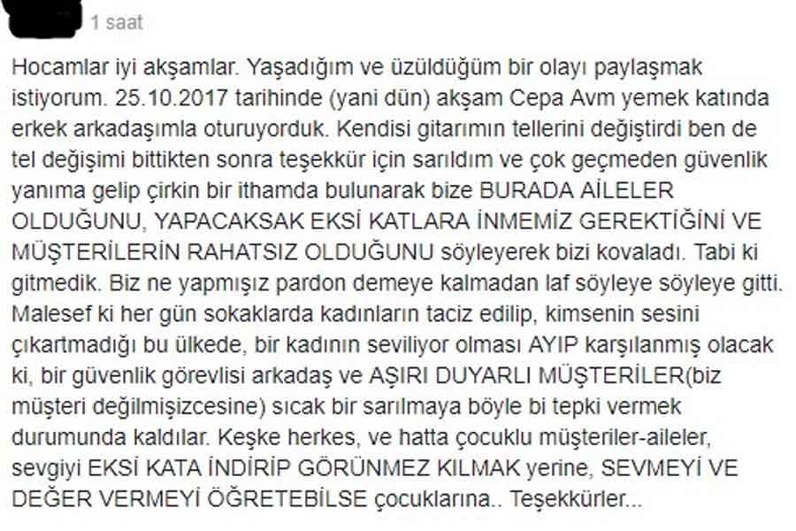 Ankara AVM'de birbirine sarılan çifte uyarı