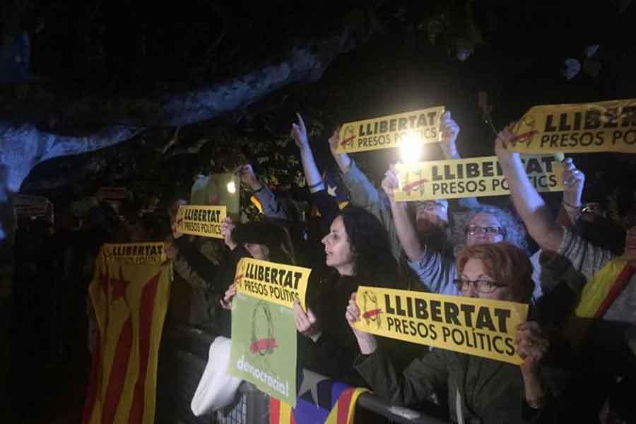 Barselona'da eylem yapıldı
