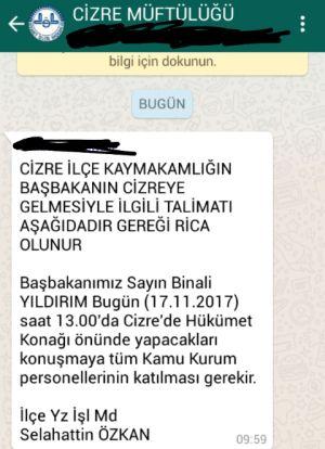 Cizre'de kamu emekçilerine talimat