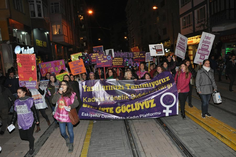 Eskişehir 25 Kasım eylemi (Evrensel)
