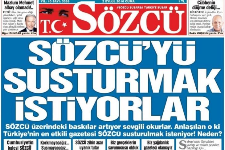 Sözcü gazetesinin iki haberine soruşturma
