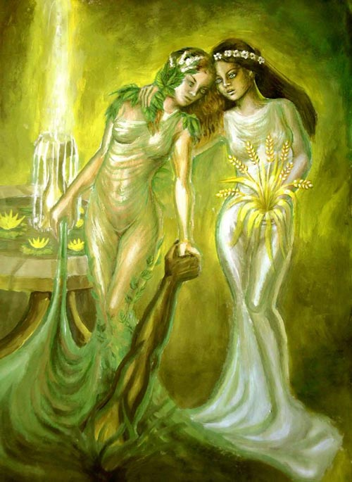 Persephone and Minthe Corina Chirila