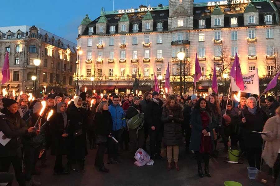 Norveç kadın eylemi