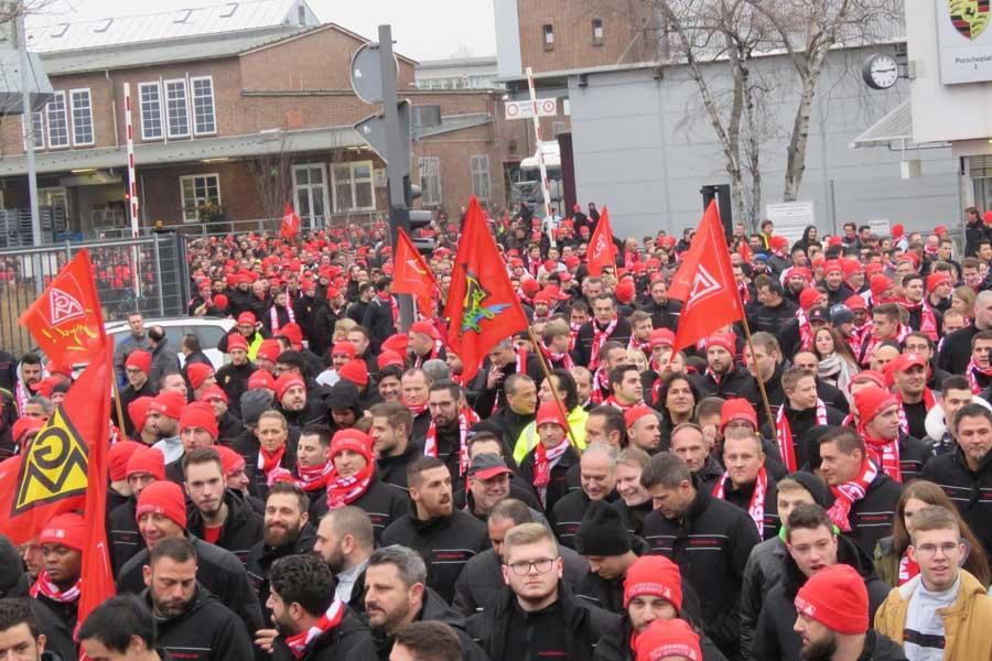 Almanya Porche grev