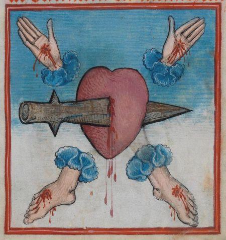 Hz. İsa'nın yaralarına atıf yapan 1486 tarihli bir çizim