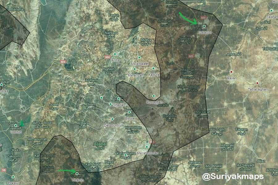 HTŞ, kent merkezinin güneydoğusundaki Sarakib'i ele geçirdi