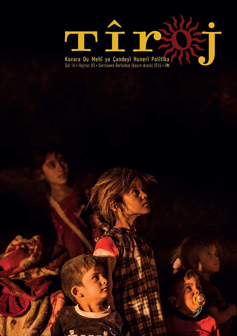 Yayımlanamayan Tîroj dergisinin kapağı