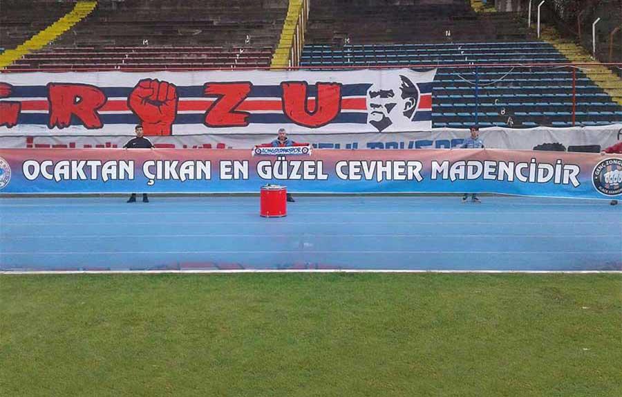 Zonguldak Kömürspor'un pankartlarına yasak
