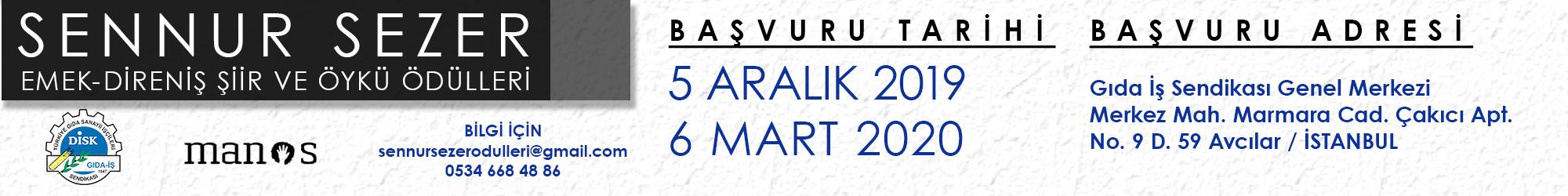 Sennur Sezer Şiir ve Öykü Ödülleri