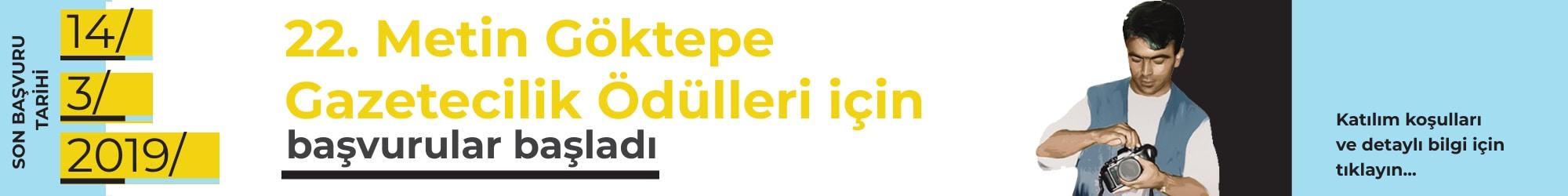 22. Metin Göktepe Gazetecilik Ödülleri için başvurular başladı