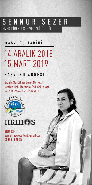Sennur Sezer Emek-Direniş Şiir ve Öykü Ödülleri başvuruları başladı