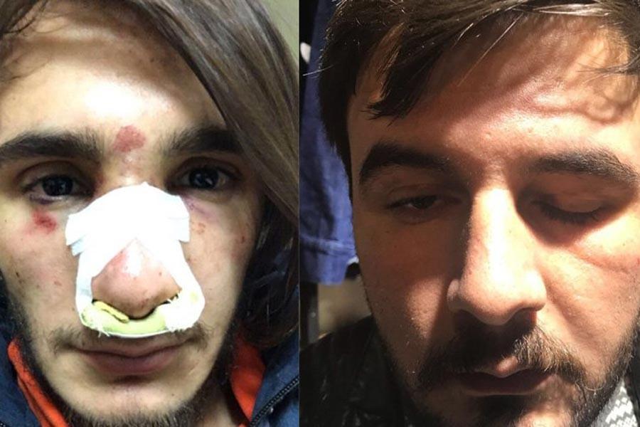 Çankırı'da polislerden gençlere 'palyaço' dayağı